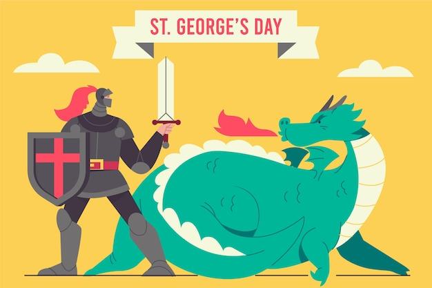 Płaski św. ilustracja dnia george'a