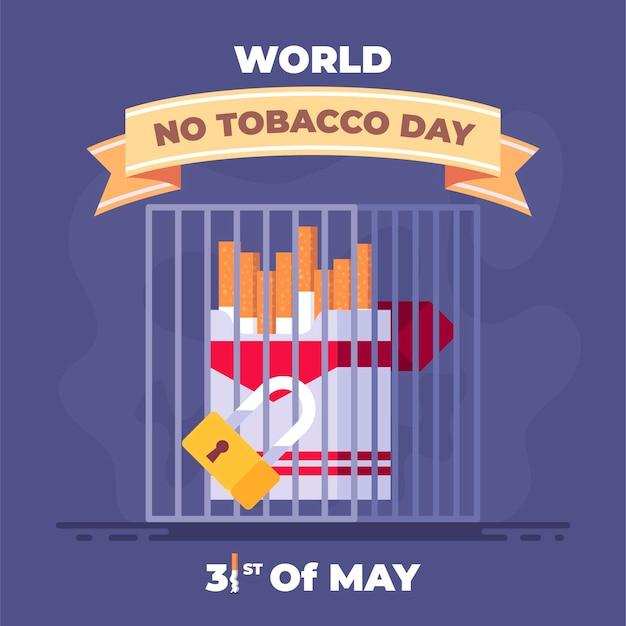 Płaski świat bez ilustracji dzień tytoniu