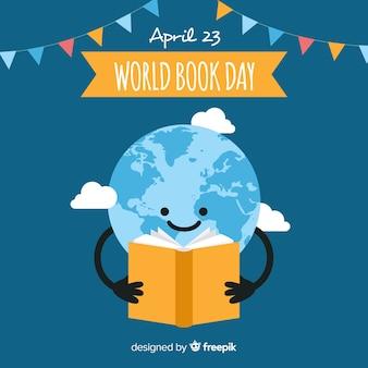 Płaski świat książki dnia tło