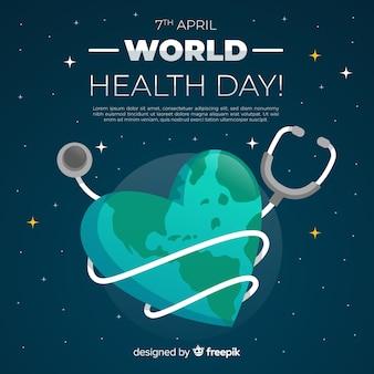 Płaski światowego zdrowia dnia tło