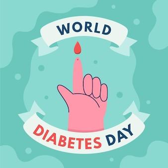 Płaski światowy dzień cukrzycy