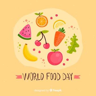 Płaski światowy dzień jedzenia