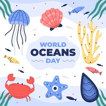 Płaski światowy dzień oceanów