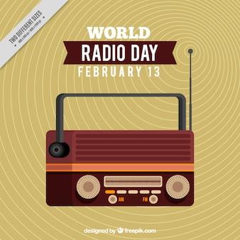 Płaski światowy dzień radia tle