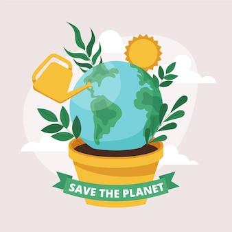 Płaski światowy Dzień środowiska Ilustracji Darmowych Wektorów