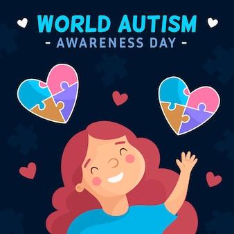 Płaski światowy dzień świadomości autyzmu