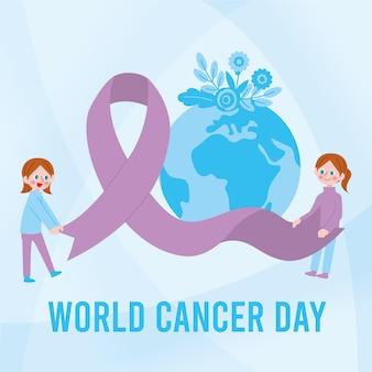 Płaski światowy dzień walki z rakiem