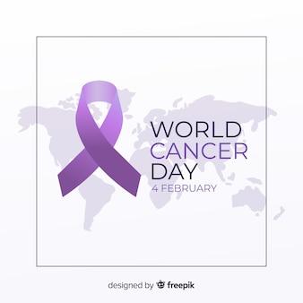 Płaski światowy rak dnia tło