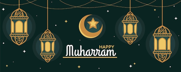 Płaski szablon banera muharram