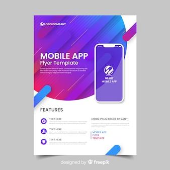 Płaski szablon broszury aplikacyjnej
