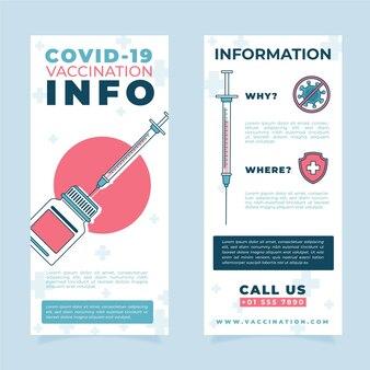 Płaski szablon broszury informacyjnej o szczepieniu przeciwko koronawirusowi
