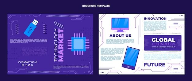 Płaski szablon broszury o minimalnej technologii