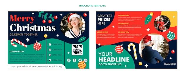Płaski szablon broszury świątecznej