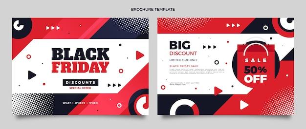 Płaski szablon broszury w czarny piątek