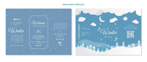 Płaski szablon broszury zimowej