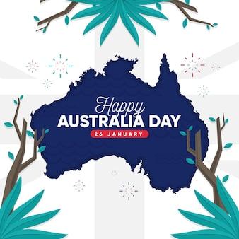 Płaski szablon dnia australii