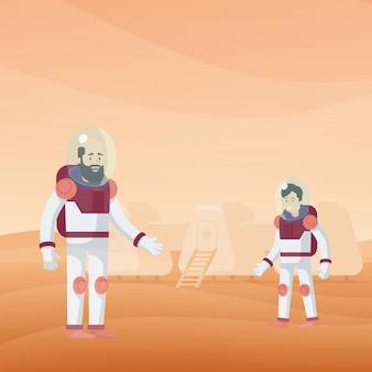 Płaski szablon eksploracji marsa