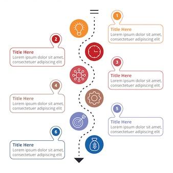 Płaski szablon infographic
