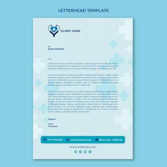 Płaski szablon medyczny papier firmowy