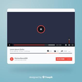 Płaski szablon multimedialny odtwarzacza multimedialnego