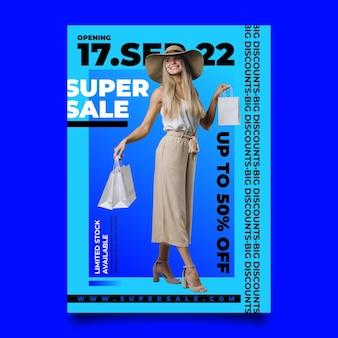Płaski szablon plakatu sprzedaży
