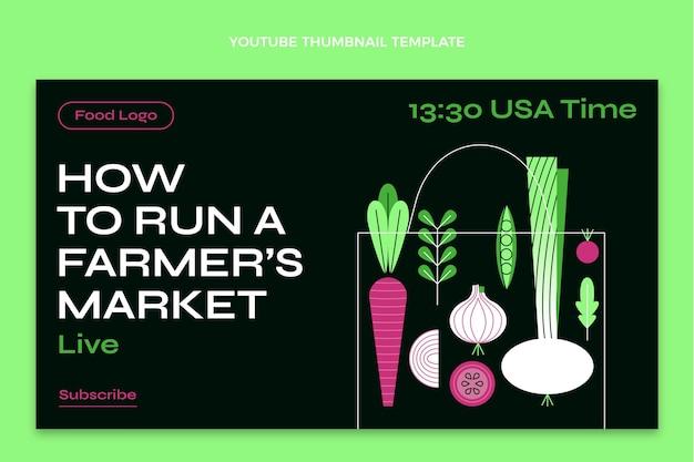 Płaski szablon projektu żywności miniatura youtube