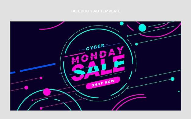 Płaski szablon promocji mediów społecznościowych w cyber poniedziałek