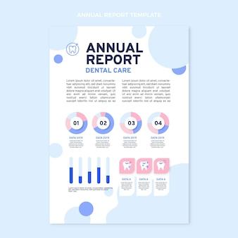 Płaski szablon raportu rocznego medycznego