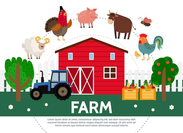 Płaski szablon rolnictwa