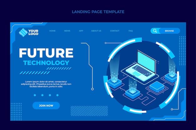 Płaski szablon strony docelowej w minimalnej technologii