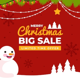 Płaski szablon świątecznej sprzedaży
