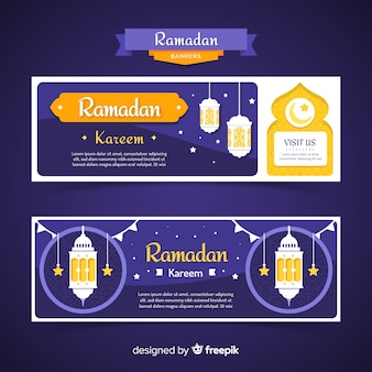Płaski szablon transparent ramadan