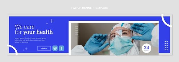 Płaski szablon transparentu medycznego twitch
