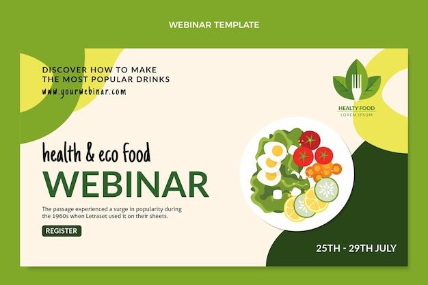 Płaski szablon webinarium o jedzeniu