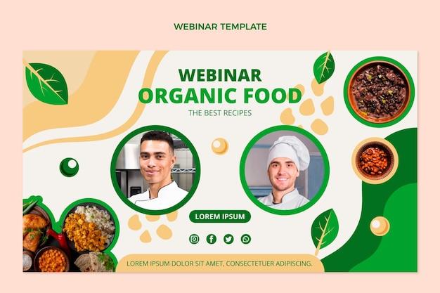 Płaski szablon webinarium o żywności ekologicznej