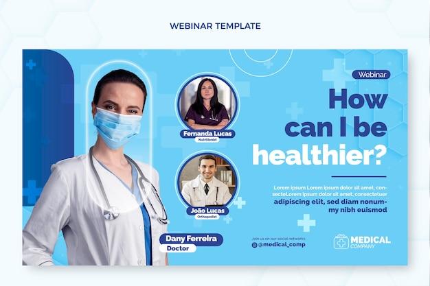 Płaski szablon webinaru medycznego