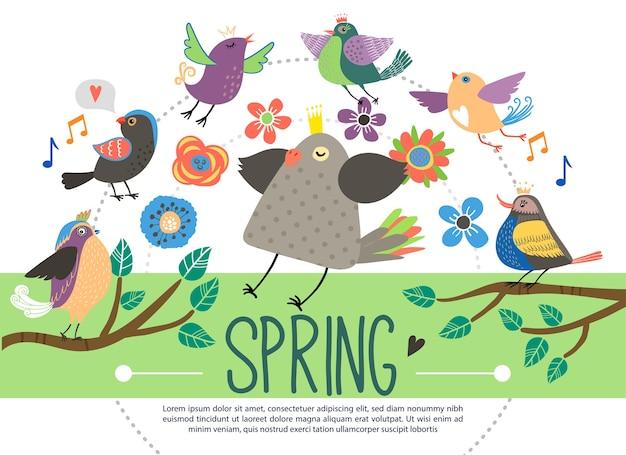 Płaski szablon wiosna