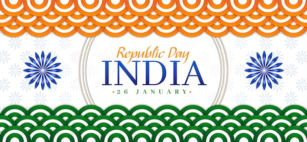 Płaski sztandar dnia republiki