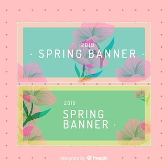 Płaski sztandar wiosny