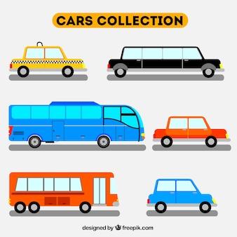 Płaski sztuk różnych pojazdów