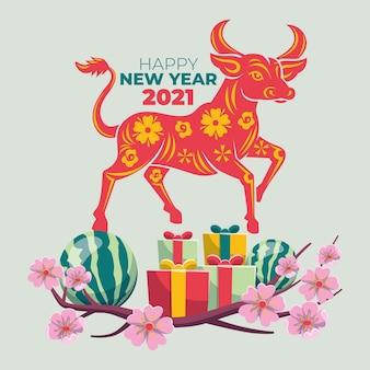 Płaski têt wietnamski nowy rok