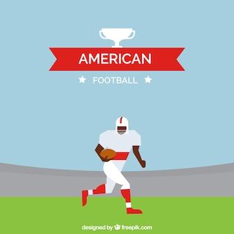 Płaski tła amerykański piłkarz w stylu geometrycznym