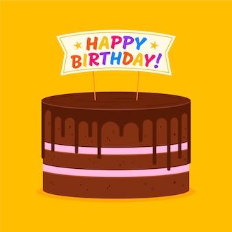 Płaski tort urodzinowy z nakładką