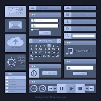 Płaski web przycisk kolekcji