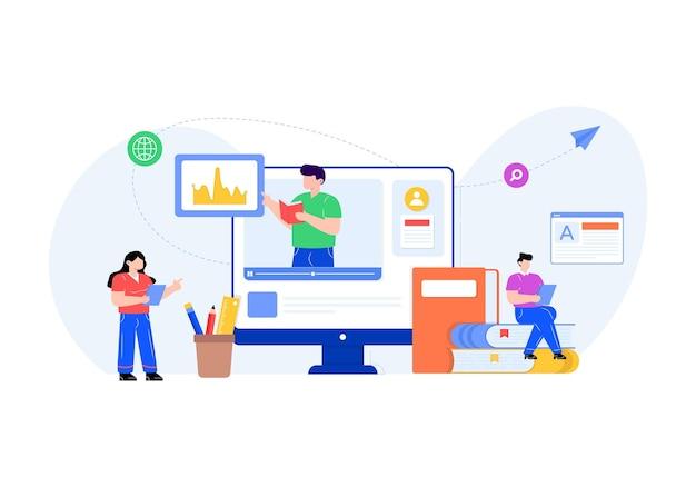 Płaski wektor edukacji online