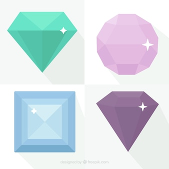 Płaski wybór czterech kamieni