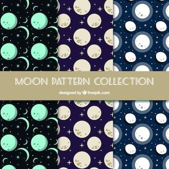 Płaski wybór wzorów księżyca