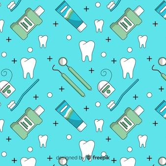 Płaski wzór dentysty