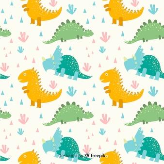 Płaski wzór dinozaura