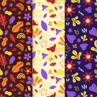 Płaski wzór jesiennej dekoracji